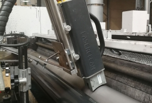 INLINE laser cleaning of anilox rolls